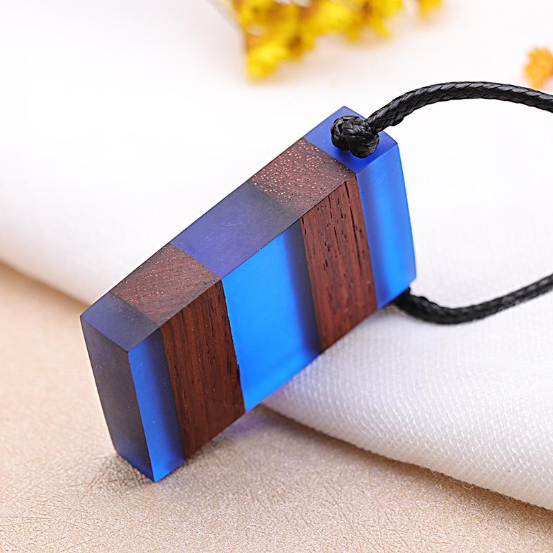 fc976437a3c517 Wholesale Hot Sales Colorful Resin Wood Pendant Necklaces Handmade Vintage  Resin Long Rope Wooden Necklace Jewelry Sweater Chain Necklace Anchor  Pendant ...