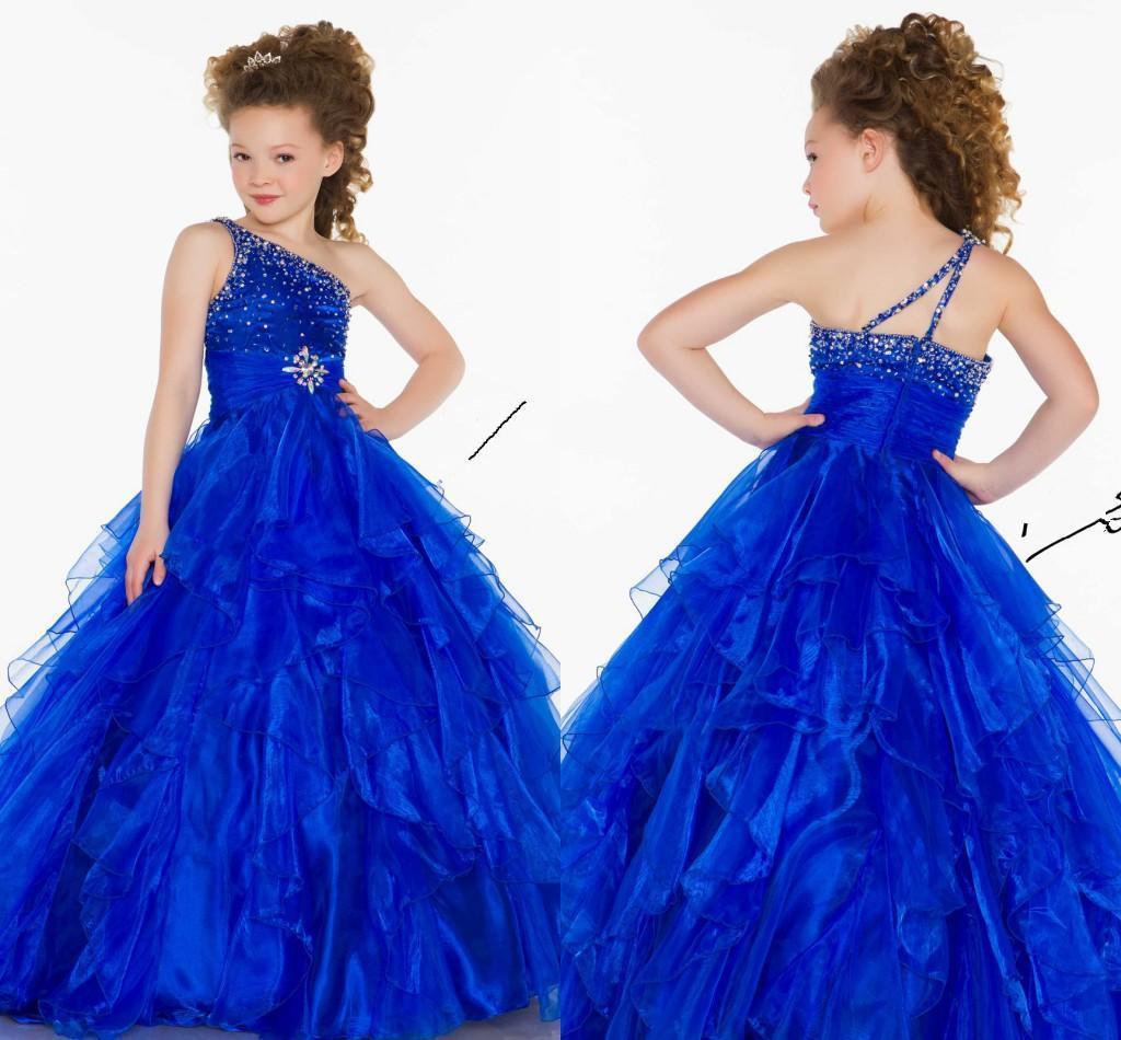 Wholesale Custom Royal Blue Crystal Beads Cute Girl Shoulder