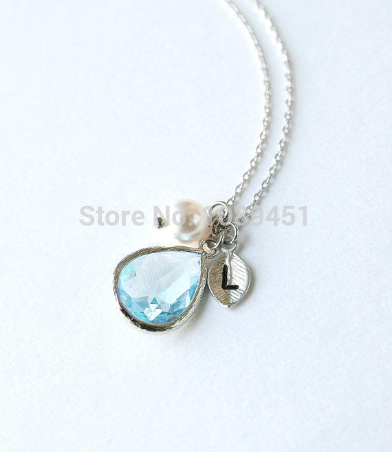 Sky blue stone necklace pearl initial l crystal necklace women sky blue stone necklace pearl initial l crystal necklace women jewelry long necklace pearl pendant for gift pendant whistle jewelry armoire pendant clasp aloadofball Choice Image