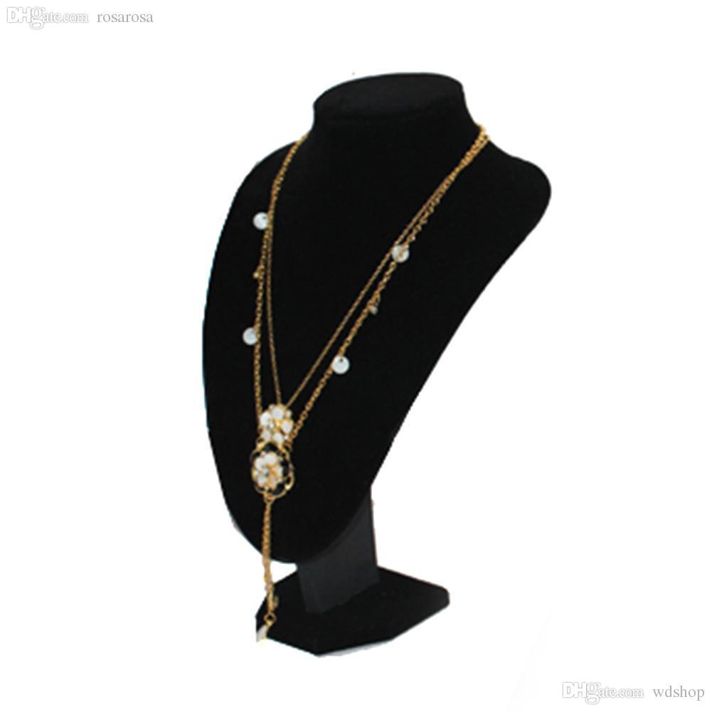 Compre Al Por Mayor Calidad Negro Terciopelo Collar Colgante Útil ...