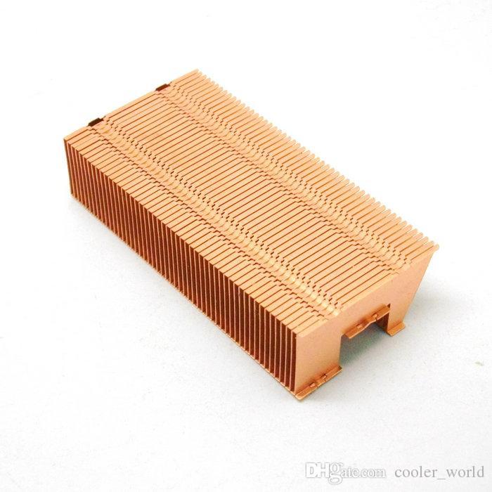 62x30.5x14 mm Copper Fin heat sink for flat heat pipe
