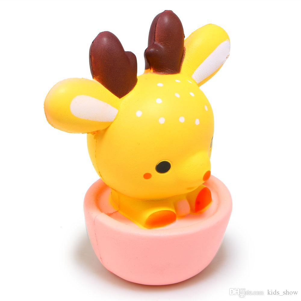 15 СМ Новый Squishy Jumbo Kawaii Cup Deer Cream Ароматические Очень Медленно Восходящая Декомпрессия Сожмите Игрушки Для Детей Кукла Подарок Fun