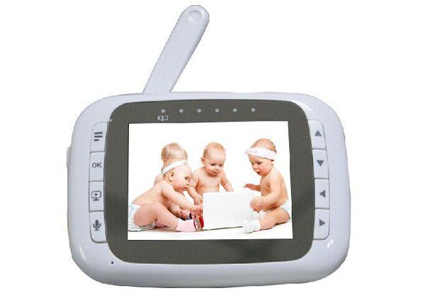 3.5 inch Wireless LCD Video Baby monitor Pan Tilt PTZ Zoom Remote lullaby VOX Digital Monitors Kid Nanny Babies Nurse Camera