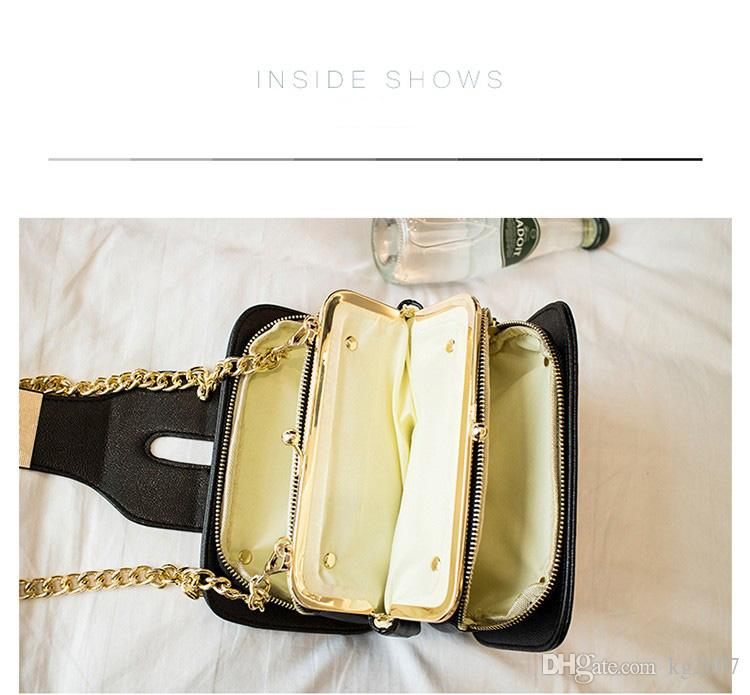 High quality fashion mini trunk messenger bag special button women bag cross body bag dollar price