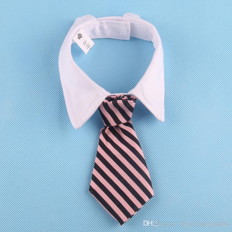Hot Pet products manufacturers wholesale gentleman Meng pet printed on both sides of the striped tide pet dog tie bow tie