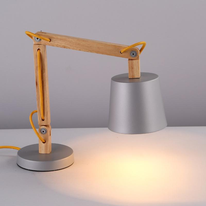 What S Hot On Pinterest Mid Century Table Lamps For Your Loft: 2019 Simple Retro Wooden Study Room Desk Lamp Creative