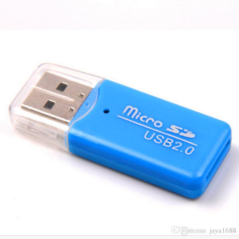 USB 2.0 Kart Okuyucu TF Adanmış Sürücü Ücretsiz Mini Kart Okuyucu Yüksek Kalite Mikro SD Hafıza Kartı Okuyucu Sıcak Satış