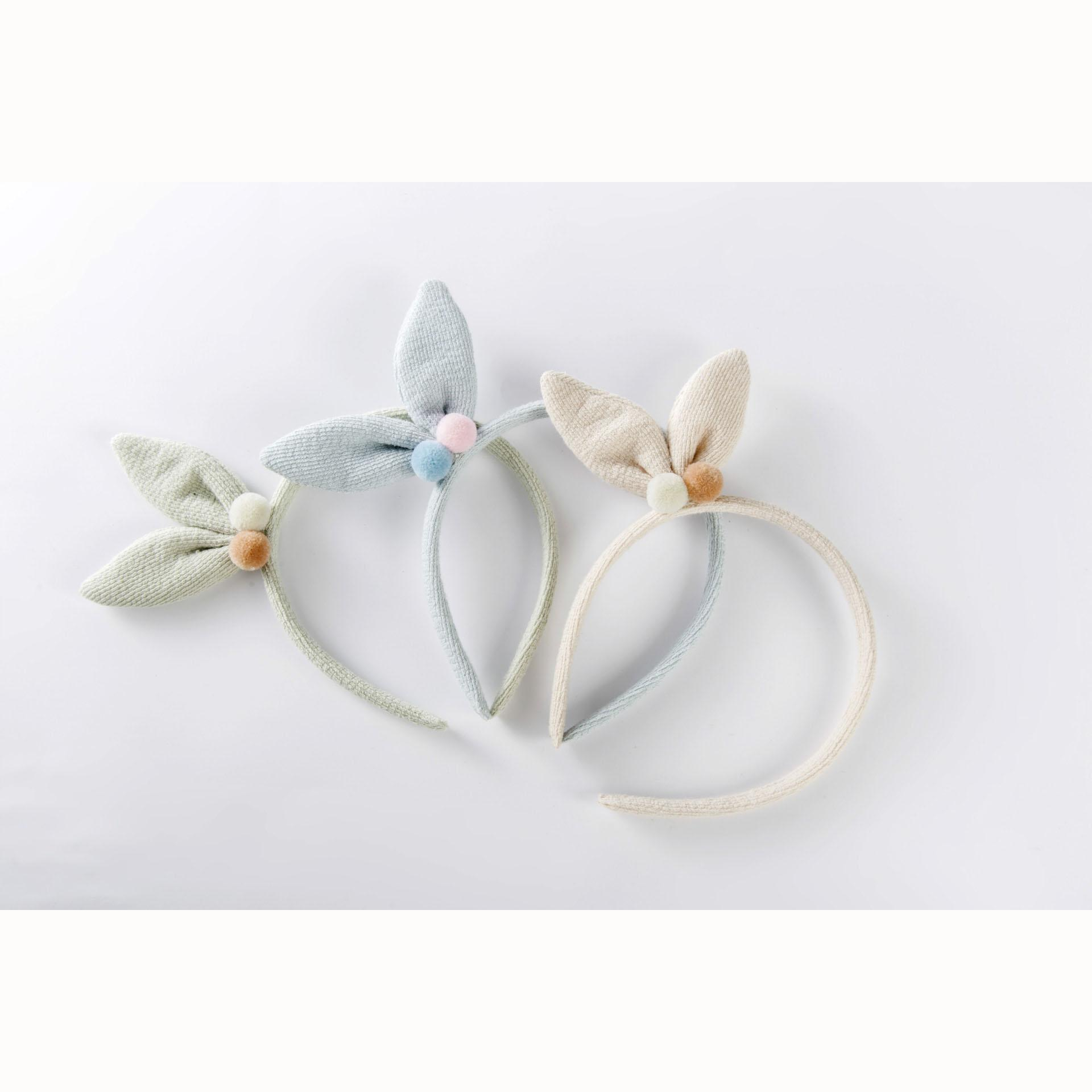 2018 Cute Rabbit Ears Hair Bands For Kids Candy Color Bow Headbands ...