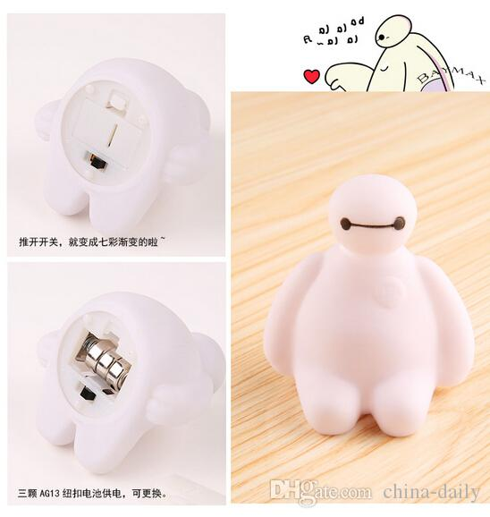 Free EMS NEW 3D Cartoon LED 7-color Changing Flash Lamp Night Light Candle Retail Box Gift