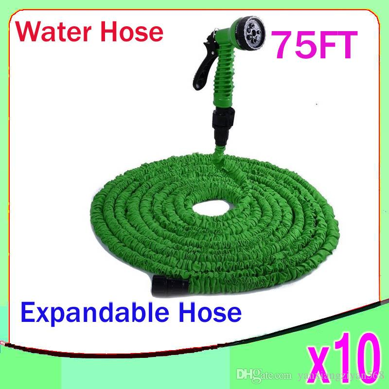 New Expandable Flexible Water Garden Hose flexible water pipe Wash car 75FT Simple Packaging 10pcs ZY-SG-02