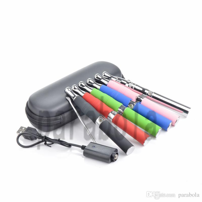 Dupla bobina ego cigarros eletrônicos cigarro cera vaporizador caneta frigideira e vaporizador de cigarro cera caneta vape pen cera starter kit com ferramenta dab