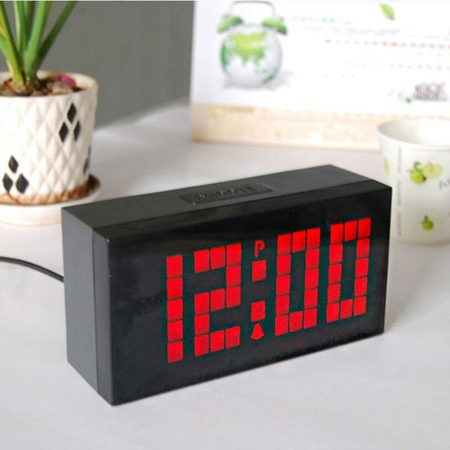 Chihai Big Time Digital Led Alarm Clock WallTable Clock With
