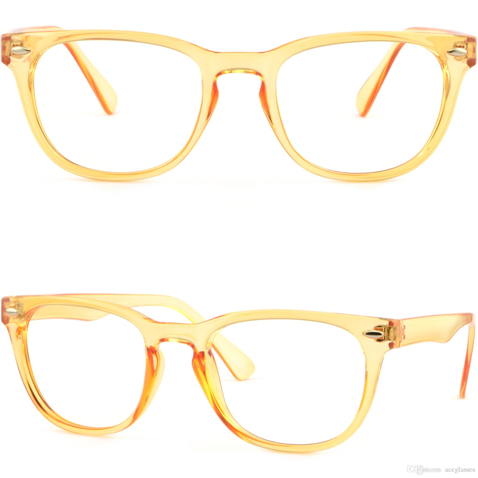 Lightweight Men Womens Translucent Plastic Frame Glasses Sunglasses ...