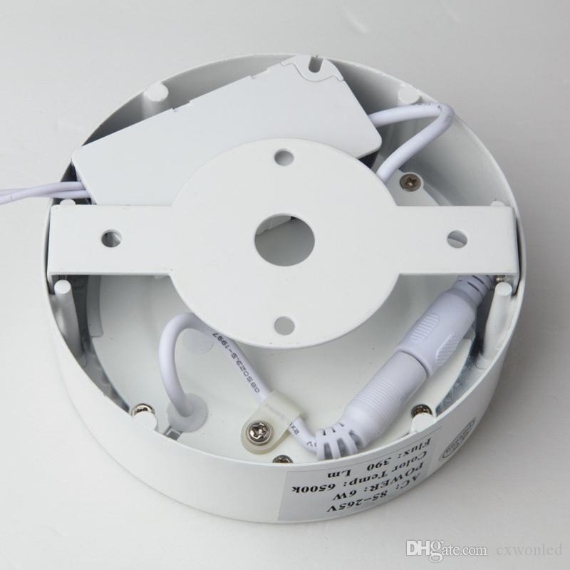 20 أجزاء / وحدة 6W 12W 18W الصمام لوحة أضواء مربع جولة السخرية سهلة لتثبيت الدافئة / الطبيعية / بارد الأبيض AC110-240V سطح الإضاءة الداخلية