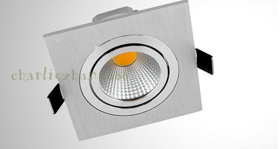 LED Ceiling Light 1*10w 100lm/W Black shell Cob Led Downlight Led Lamp warm/cold white 6000k 110-240v 120 angle