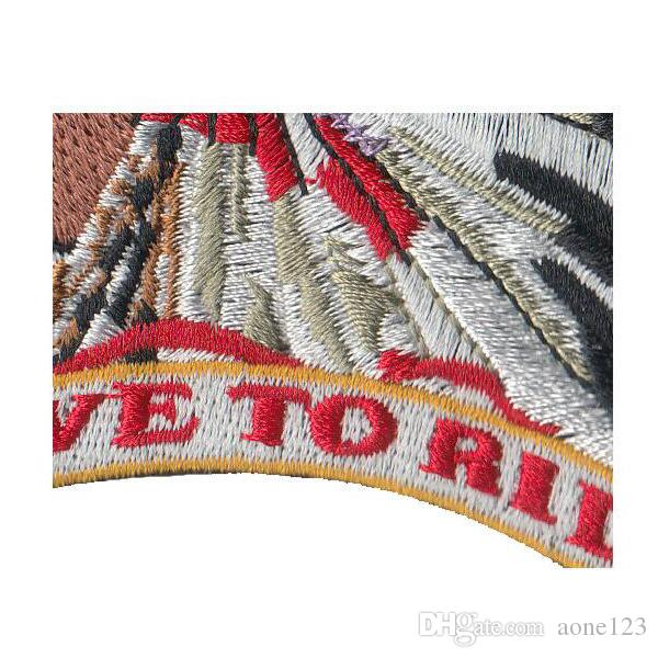 ! 80% fabric Indianans patches indian Computer Embroidered logo charms iron on Cloth paste for gift