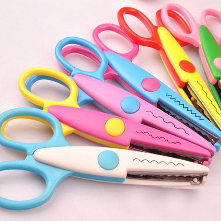 Scissors New Kids Scissors For Diy Photo Album Handmade Laciness Scissors For Photo Album Card Decorative Diy Scissors 6 Patterns