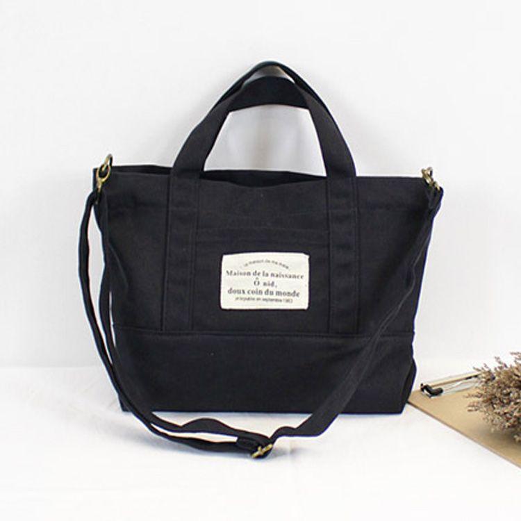 simples lona estilo coreano casual bolsa / messenger bag