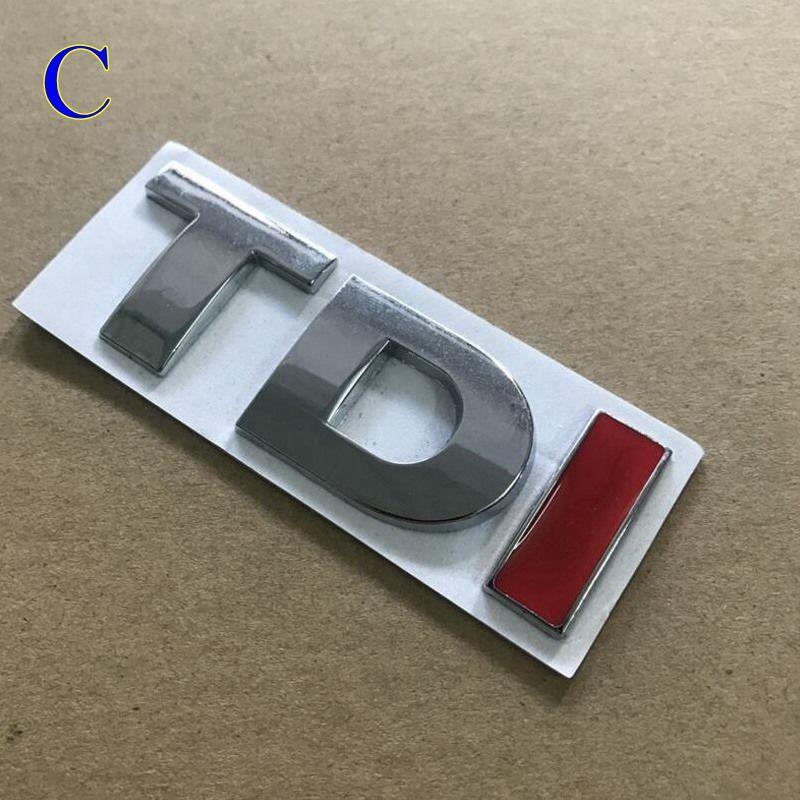 TDI GTI 3D metal Rozet Amblem Çıkartması Oto Sticker Araba styling için vw POLO Golf 7 Tiguan JETTA PASSAT b5 b6 MK4 MK5 MK6 MK7