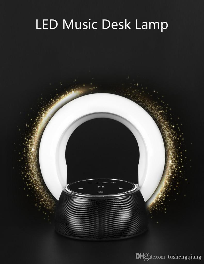 Alto-falantes Sem Fio Handsfree Bluetooth Speaker LED Caixa de Música Night Light Speaker Mini Lâmpada Portátil Para O Presente de Natal de Aniversário