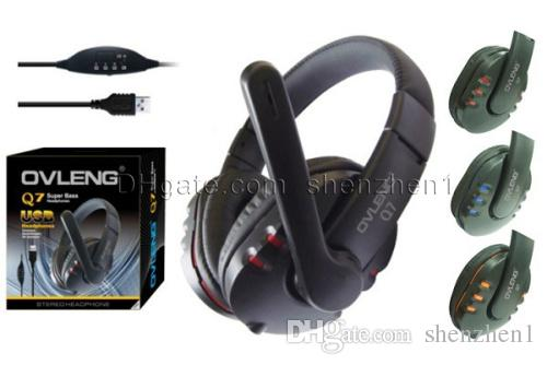 Brand Q7 Headphones USB Supper Bass Gaming Headset With Microphone And Volume Control For Computer Gamer EAR129