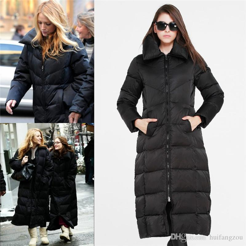 2018 2016 Women Super Long Down Coats Warm Thicken Down Coats For ...