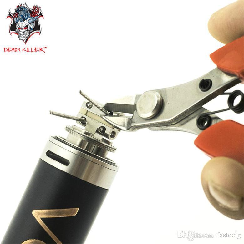 Vaporizzatore Cutter Pinza Strumento DIY Demone killer Cutter Pinze 3Cr13 acciaio Manico in gomma DIY eCigarette Bobina Wick Wire Cutter DHL LIBERA la nave