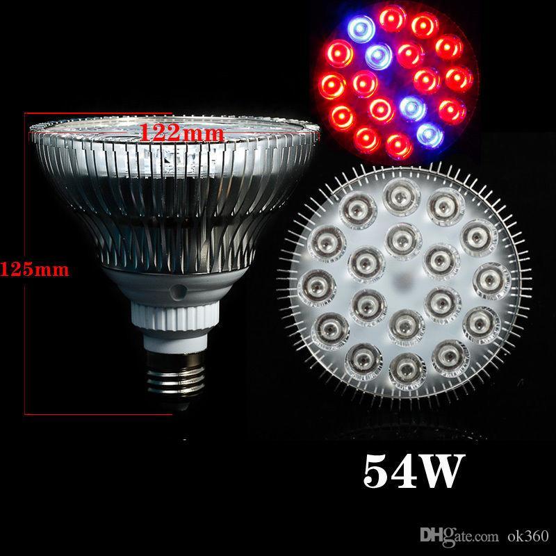 كامل الطيف LED اضواء تنمو 21W 27W 36W 45W 54W E27 LED تنمو مصباح PAR 38 30 لمبة لزهرة نظام الزراعة المائية النبات ينمو صندوق الضوء