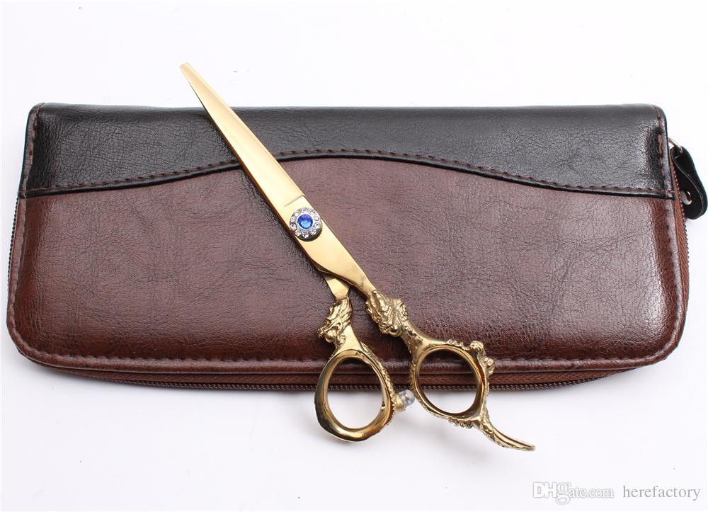 "C9004 6""JP 440C Customized Logo Professional Human Hair Scissors Barbers' Hairdressing Scissors Cutting Thinning Shears Salon Style Tools"