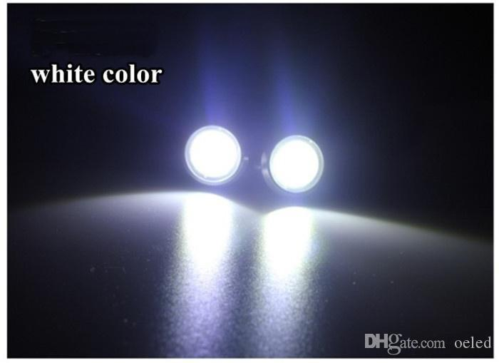 9W 18mm Waterproof Tail light LED Larger Lens Ultra-thin car led Bolt On Screw Eagle Eye Backup Lamp Angel eyes Car Motor Light