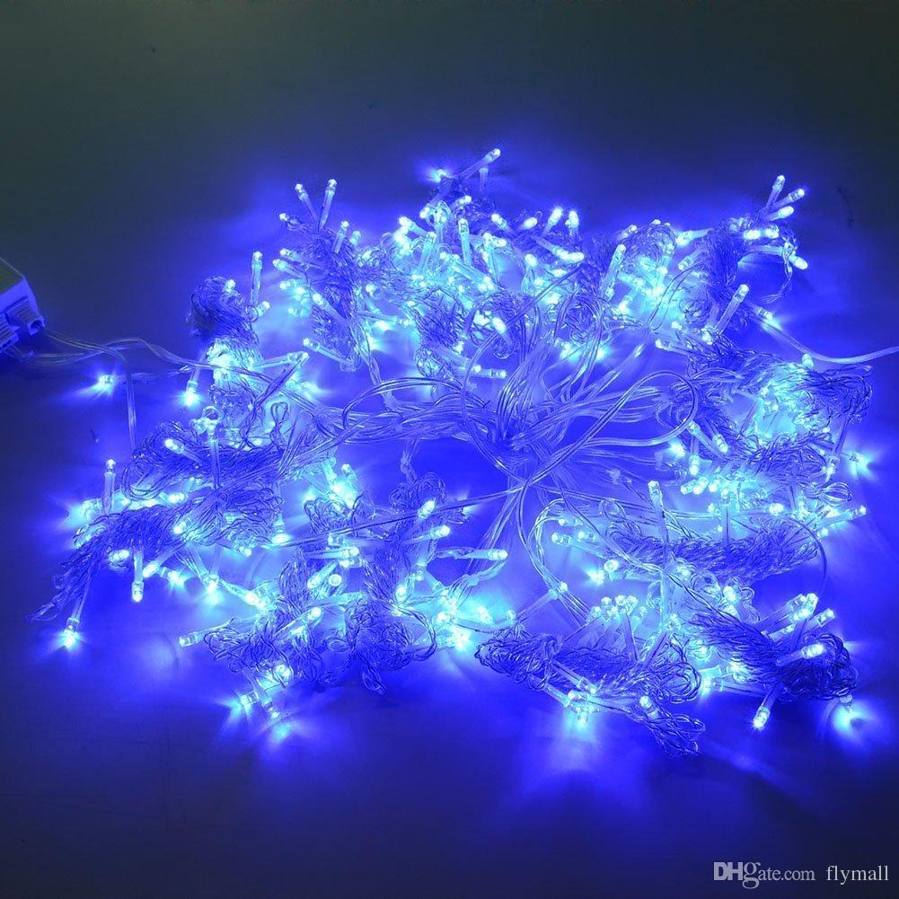 3M x 3M 300 LED Cortinas de hilo de hadas Luz para interior Hogar al aire libre Jardín Fiesta de Navidad Boda Pared Ventana Luz Led Cadenas Azul / Blanco