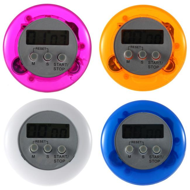 Cooking Timer Digital Alarm Kitchen Timers Gadgets Mini Cute Round LCD Display Count Down Tools Battery Installed With Clip
