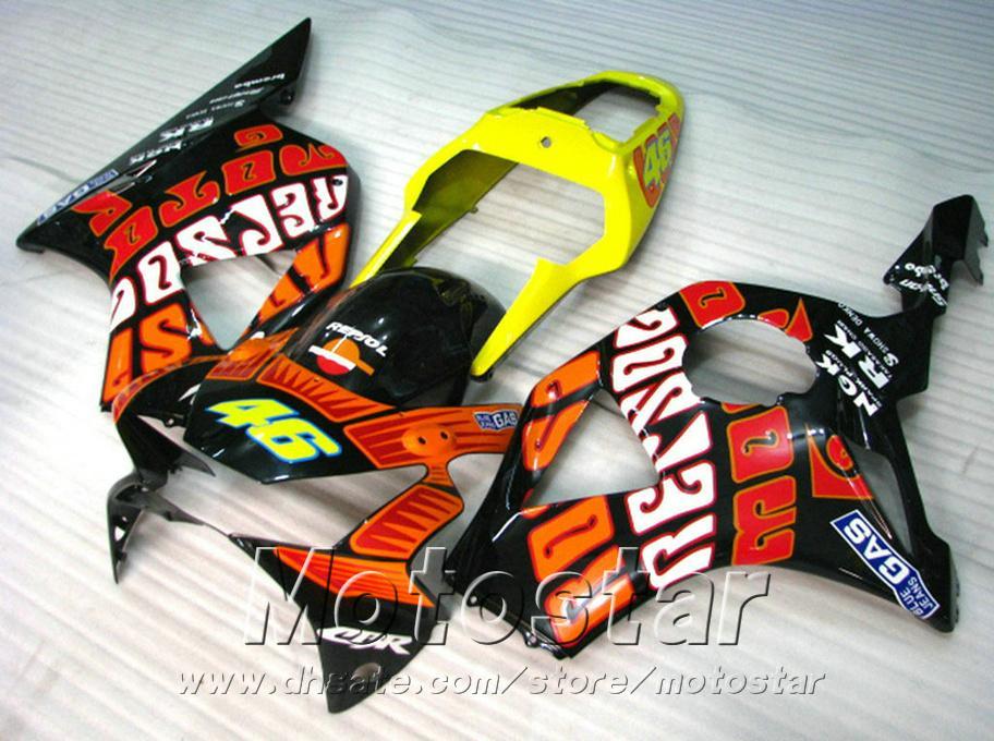 Moulage par injection Kit de carénage de haute qualité pour carénages Honda cbr900rr 954 2002 2003 CBR900 RR bodykits noir jaune rouge CBR954 02 03 YR12