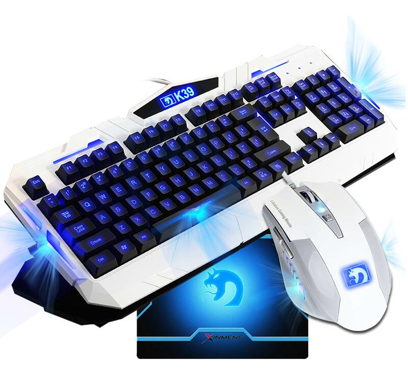 cbp luminous backlit gaming keyboard with mouse cambo usb wired best for gamer to play cs lol. Black Bedroom Furniture Sets. Home Design Ideas