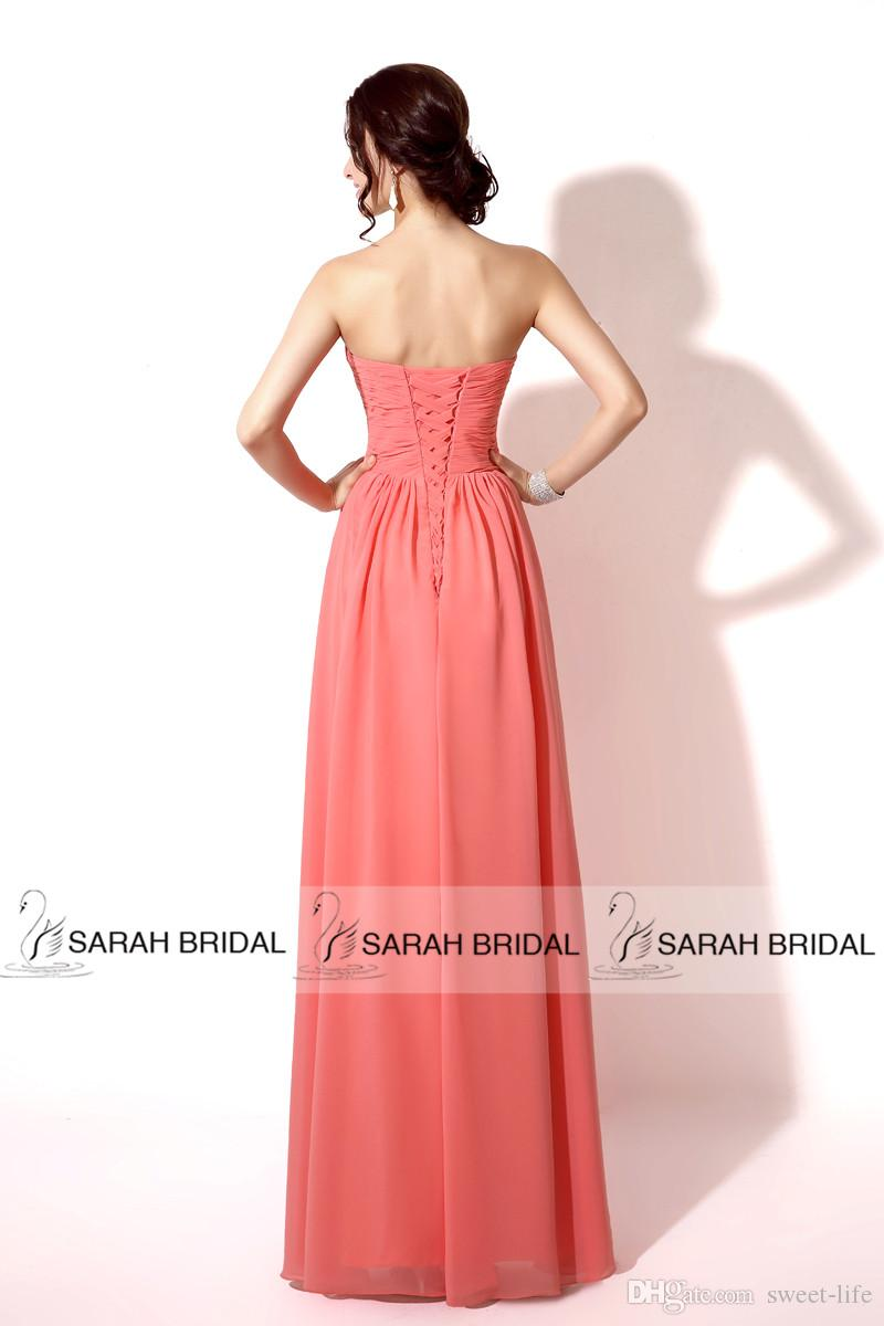 2015 In Stock Cheap Bridesmaid Dresses Sexy Coral Mint Red Orange Lilac Champagne Sweetheart Lace Up Maid of Honor Formal Prom Dress Gowns