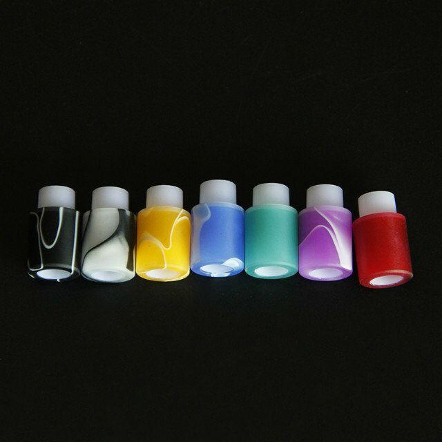 Colorful Acrylic & Derlin Drip Tips 510 EGO Atomizer Mouthpieces for CE4 CE5 CE6 Protank EVOD EGO T electronic cigarette ecigs Drip Tips