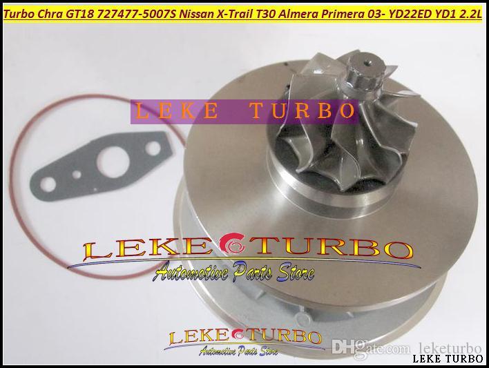 Oljekyld Turbopatron CHRA GT1849V 727477-5007S 727477 Turboladdare för Nissan Almera Primera X-Trail T30 2003-05 YD22ED YD1 YD22 2,2L