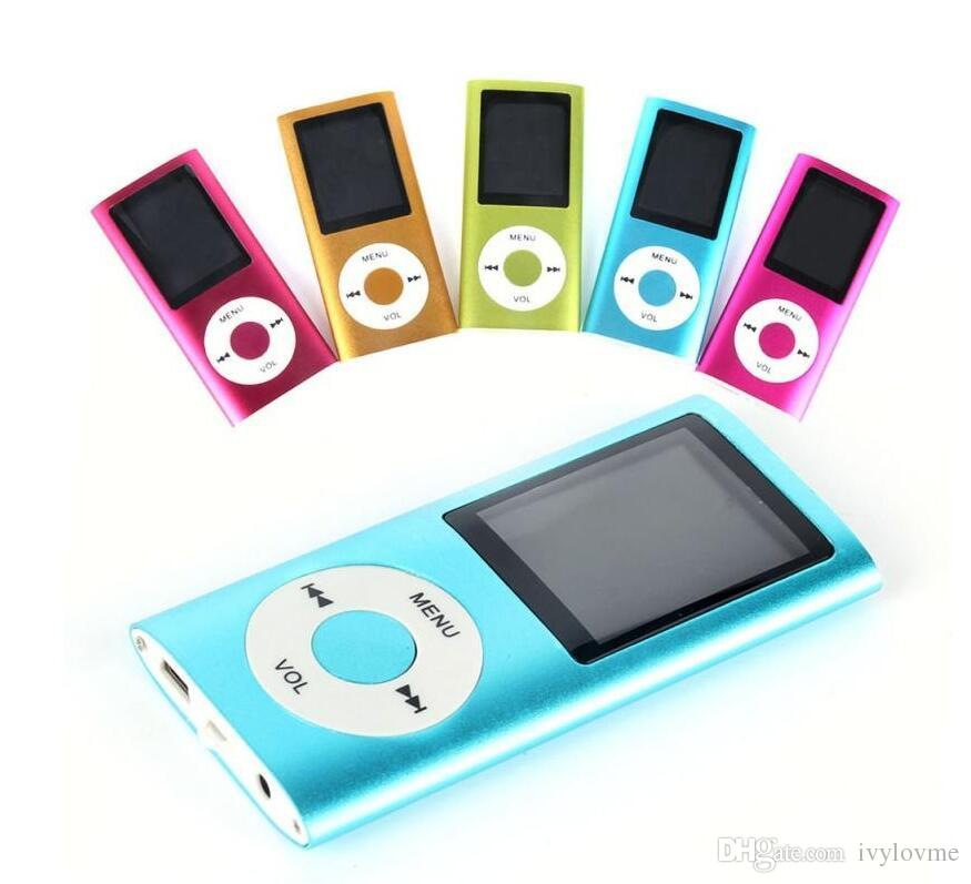Cheapest mp3 100pcs Colorulf MP4 Player With FM Radio Video&Micro SD Card  TF Card Slot Speaker 4th LCD MP4 Player
