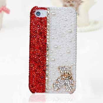 super popular b2a1e 5bd8b new arrival handmade pearl rhinestone mobile phone Hard Back Cover Skin  Case cover For iphone 5c case Free shipping