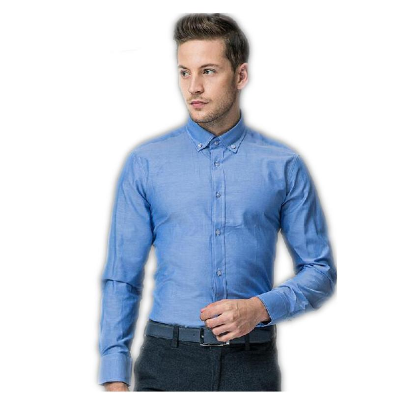 Fashion Mans Shirt Business Shirts New Style Blue Mans Formal Wear