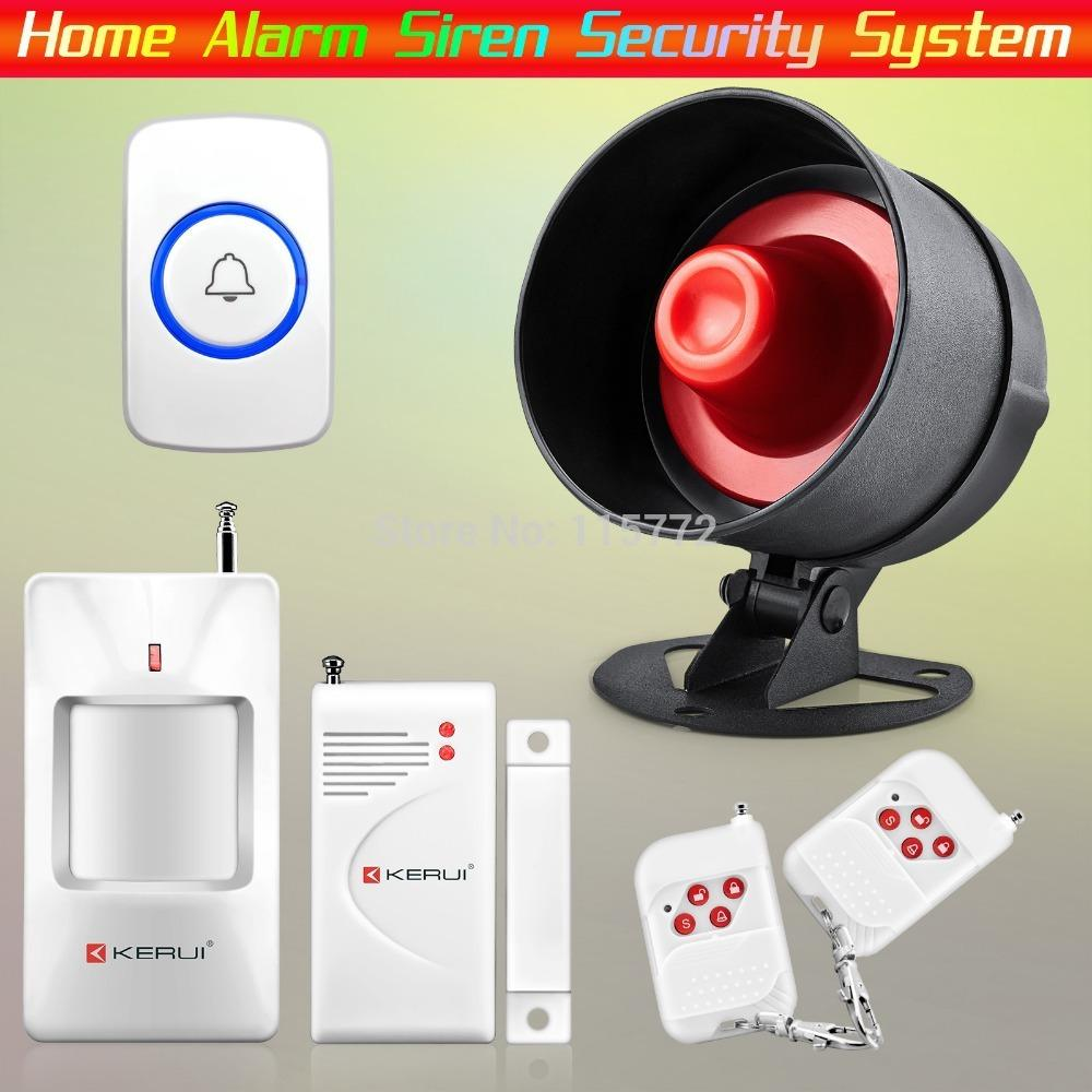 Kerui Wireless Home Alarm Siren System Eastest Installation For Home House  Security With Door Bell From Supermikechina, $321.53 | Dhgate.Com