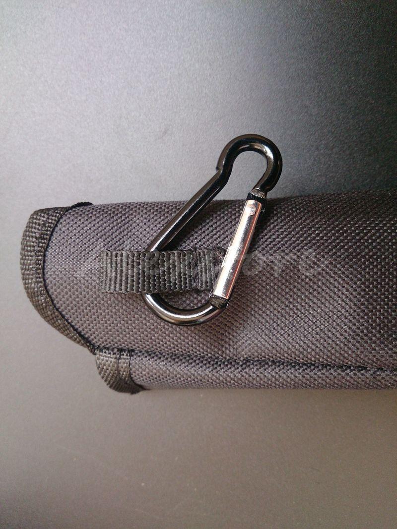 Bolsa de transporte Bolsa de transporte E Cig Bolsa de transporte Caja de tela colorida Bolsillo con gancho Cremallera Collar Cordón Titular para ego evod x6 Mod