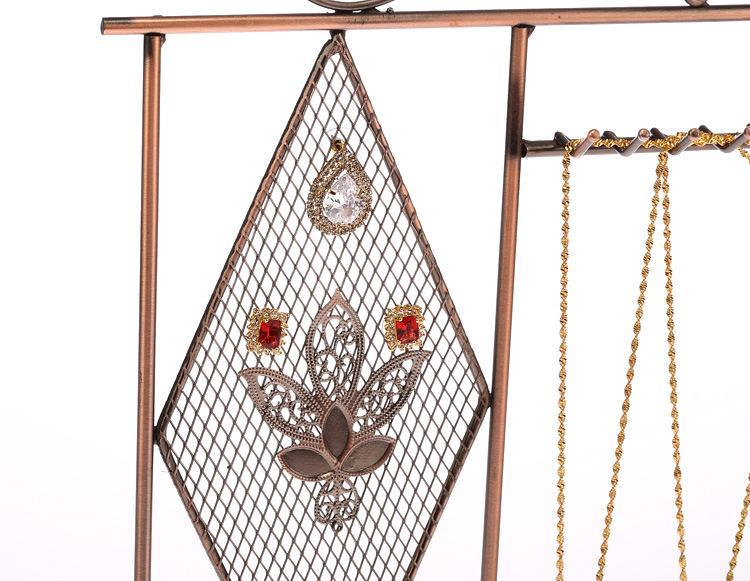 الحديد المطاوع الأقراط قلادة سوار سلسلة مجوهرات حامل عرض موقف رف متجر المنزل الديكور هدية الزفاف