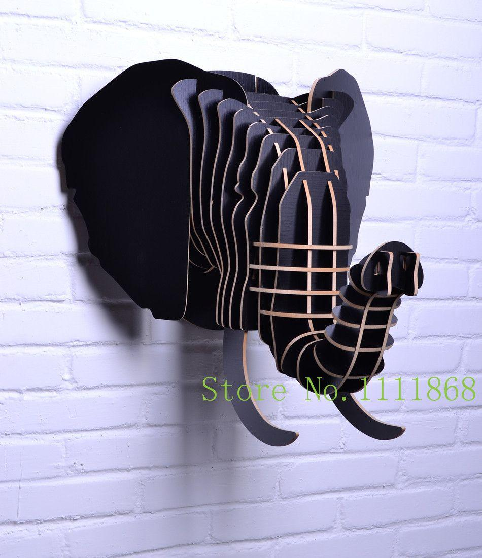 Elephant Head Wall Decor diy wooden crafts for home decoration of elephant head,animal head