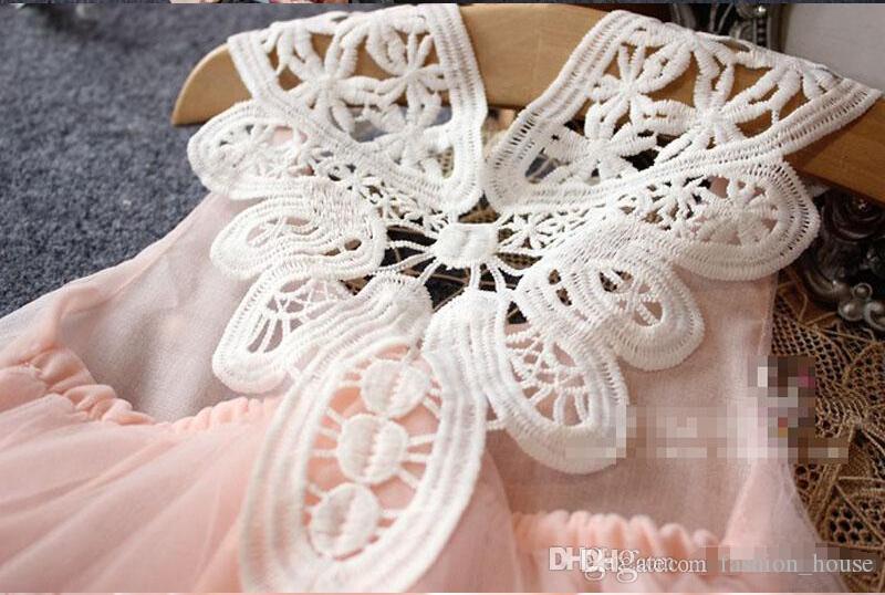 Девочки кружевное жемчужное платье 2015 новая привлекательная принцесса Девочки кружевное платье без рукавов детская одежда