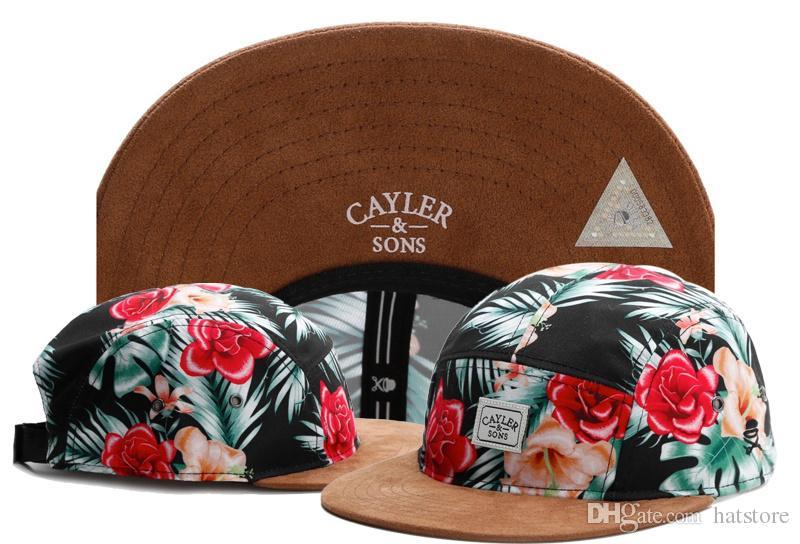 475dd14f80b15 Beautiful Hot Sale Summer Cotton Mens Baseball Cap Brand Flower 5 Panel  Strapback Cayler Sons Snapback Hats For Women Men Snapbacks TYMY 263  Trucker Hats ...