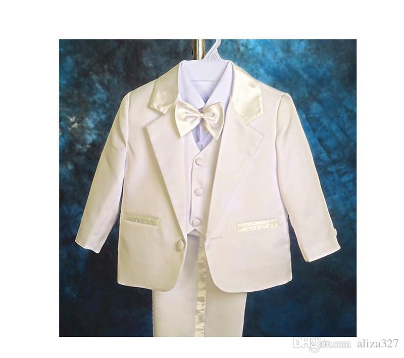 Handsome little boys suits fashion three-piece boys formal occasion suits fashion boys wedding suits jacket+pants+vest+bow tie
