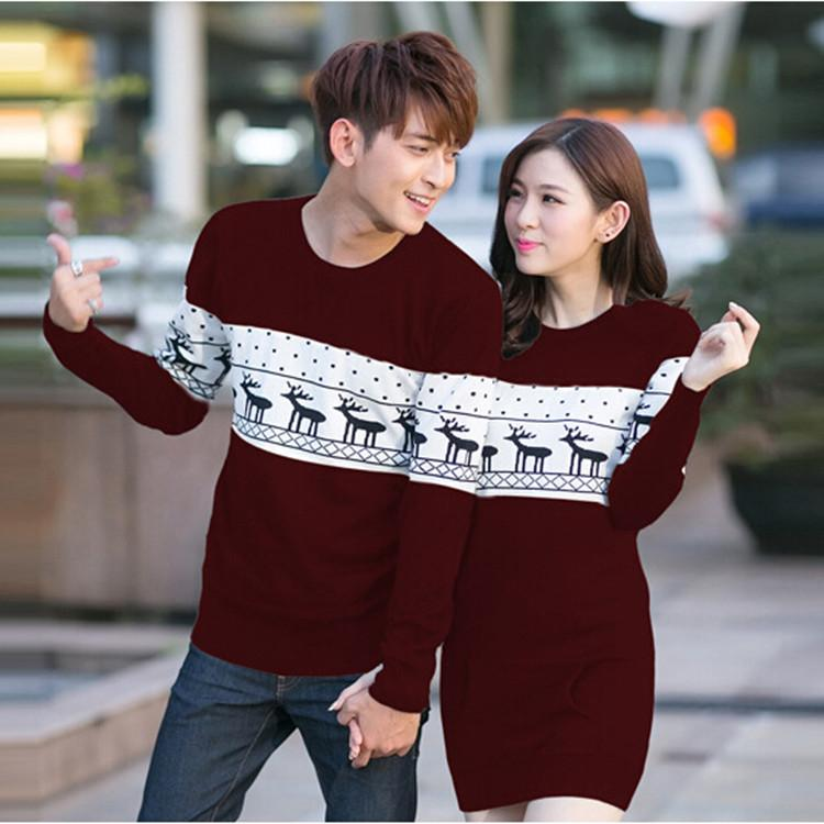 online cheap 2015 couple christmas sweaters plus size men sweaters long sleeve women sweaters and pullovers matching deer knitted sweaters by kaiyue608