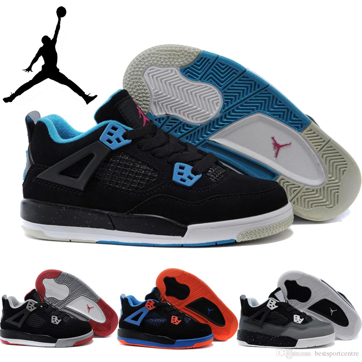 Nike Air Jordan Retro 4 Children Shoes Boys Girls Basketball Shoes Sneakers Kids  Cheap High Quality Athletic Baby Cheap Shoes Sneakers For Kids Triathlon ...