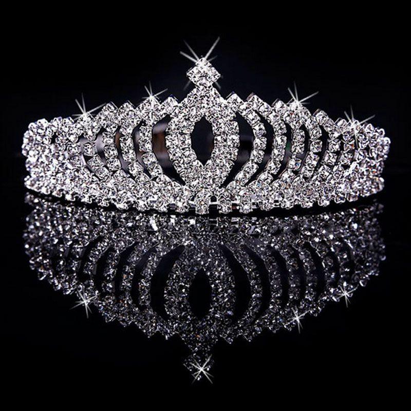 2016 Big Diamond Crown Necklaces Earrings Suit Combs